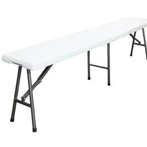 折り畳み式アウトドアチェア FB183 [長椅子 屋外用チェア ガーデンチェア ガーデニングチェア フォールディングチェア 折りたたみ式 ホワイト 白]