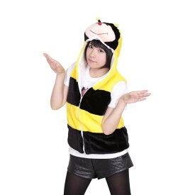 【i Party Time】【ふわもこベスト みつばち】 大人用 コスプレ 着ぐるみ イベント 動物 衣装 ベスト コスプレ衣装 コスチューム 仮装
