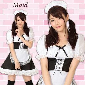 【A&T Collection】【メイドさん、おかわり!】 あす楽 サイズM コスプレ メイド ロリータ かわいい メイド服 衣装 仮装 洗濯可