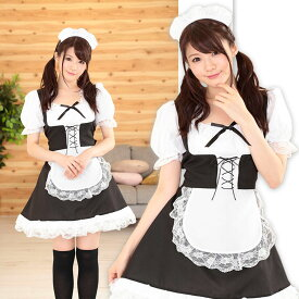 【A&T Collection】【メイドさん、おかわり!】 サイズM コスプレ メイド ロリータ かわいい メイド服 衣装 仮装 洗濯可
