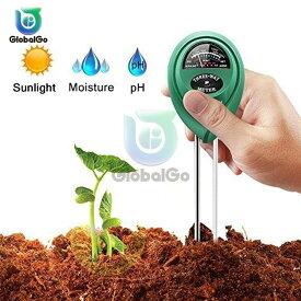 3 in 1 土壌水分湿度PHメーター 酸性湿度日光PHテストガーデン
