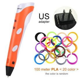 Myriwell 3Dプリンティングペン プリンターペン ABS / PLAフィラメント - オレンジ USプラグ-100m PLA - China