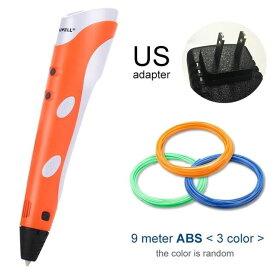 Myriwell 3Dプリンティングペン プリンターペン ABS / PLAフィラメント - オレンジ USプラグ - China