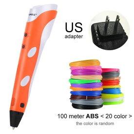 Myriwell 3Dプリンティングペン プリンターペン ABS / PLAフィラメント - オレンジ USプラグ-100m ABS - China