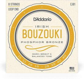 【ネコポス可能!】ダダリオ Bouzoki アイリッシュ・ブズーキ弦 Phosphor Bronze Wound 1セット(EJ81) 【RCP】