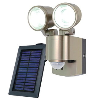 ESL-302SL solar generation-type LED sensor light ※1 エルパ ELPA 3W LED *2 light infrared passiveness-type power supply: NiMH charge pond 4.8V 1800mAh