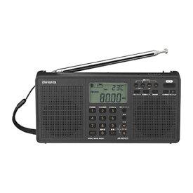 アイワ AR-MDS25 ワールドバンドラジオ ※1 ワイドFM/AM(MW、LW、SW)全世界対応ラジオ・SDカードスロット・デュアルアラーム・ステレオスピーカー 【KK9N0D18P】【RCP】
