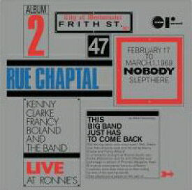 ケニー・クラーク/フランシー・ボラン / The Second Set : Rue Chaptal  180g重量盤LP【KK9N0D18P】