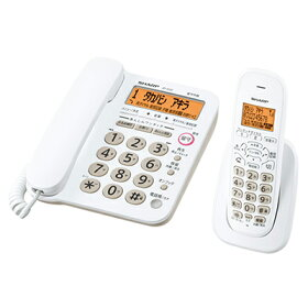 JD-G32CL-Wデジタルコードレス電話機(親機+子機1台)※2【カードOK】シャープ3つの迷惑電話対策ボタン【KK9N0D18P】【RCP】