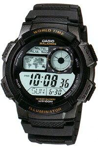 カシオ スポーツウォッチ 10気圧防水 時計 メンズ デジタル 腕時計 (AE10P-6004) ストップウォッチ カウントダウンタイマー 10年電池 LEDライト付き ランニングウォッチ CASIO 海外限定 マラソン ラ