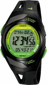 カシオ スポーツウォッチ 5気圧防水 メンズ レディース デジタル 腕時計(PH10DC01BKGR)チープカシオ チプカシ 距離計測機能 ストップウォッチ 60ラップ 10年電池 LEDライト付き ランニングウォッチ CASIO マラソン ランニング 時計