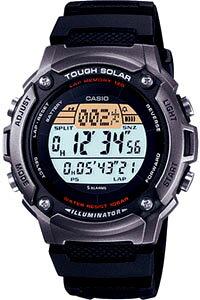 カシオ スポーツウォッチ 10気圧防水 メンズ ソーラー デジタル 腕時計 (SD10AUP-501A海外版) ワールドタイム ストップウォッチ カウントダウンタイマー 120ラップ LEDライト付き ランニングウォ