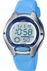 カシオ スポーツウォッチ デジタル 5気圧防水 レディース 腕時計(LW09P-5906LBU)デュアルタイム ストップウォッチ LEDライト付き ランニングウォッチ CASIO 海外限定 アウトドア トレーニング マラソン ランニング 時計