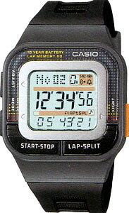 カシオ スポーツウォッチ 5気圧防水 ランニングウォッチ レディース デジタル 腕時計 (SD11FBP-201GRY海外版) 距離計測機能 60ラップ ストップウォッチ カウントダウンタイマー 10年電池 CASIO マラ