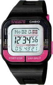 カシオ スポーツウォッチ 5気圧防水 レディース デジタル 腕時計 かわいい ピンク (SD11FBP-202BKPK) 距離計測機能 60ラップ ストップウォッチ カウントダウンタイマー 10年電池 LEDライト付き ランニングウォッチ CASIO 海外限定 マラソン ランニング 時計