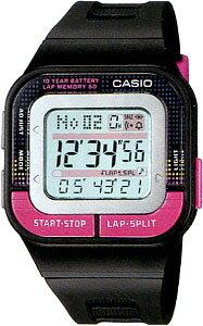 カシオ スポーツウォッチ 5気圧防水 レディース デジタル 腕時計 (SDS11FBP-J202BKPK) 距離計測機能 ストップウォッチ カウントダウンタイマー LED ライト付き ランニングウォッチ カシオ レディー