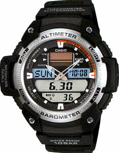 カシオ スポーツウォッチ 10気圧防水 メンズ デジタル アナログ 腕時計 ブラック 黒(SPR11FB02BLK)気圧計 高度計 温度計 ELライト付き 登山 時計 1/100秒ストップウォッチ ランニングウォッチ カシオ CASIO トレッキング アウトドア 登山用品