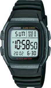カシオ スポーツウォッチ ランニングウォッチ 5気圧防水 メンズ デジタル 腕時計(W11P-6504)1/100秒ストップウォッチ 10年電池 LEDライト付き CASIO 海外限定 日本未発売 マラソン ランニング ウォッチ 時計