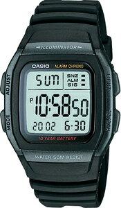 カシオ スポーツウォッチ ランニングウォッチ 5気圧防水 メンズ デジタル 腕時計 (W11P-6504) アラーム カレンダー ストップウォッチ ランニングウオッチ 10年電池 LEDライト付き CASIO 海外限定