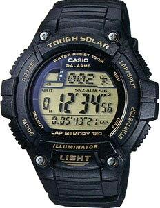 カシオ スポーツウォッチ 10気圧防水 ソーラー メンズ デジタル 腕時計 (WSD11AUP-303) ワールドタイム アラーム カレンダー 120ラップ ストップウォッチ カウントダウンタイマー LED ライト付き