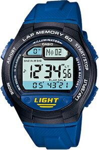 カシオ スポーツウォッチ 10気圧防水 デジタル 腕時計 1/100秒ストップウォッチ 60ラップ 10年電池 距離計測機能 LEDライト付き(WSD11AUP-403BLU)ランニングウォッチ カシオ CASIO 海外限定 マラソン ランニング 時計 ランナー ウォッチ