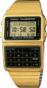 カシオ データバンク スポーツウォッチ メンズ デジタル 腕時計 ゴールド 金(DBC-611G-1JF海外版)1/100秒 ストップウォッチ タイマー LEDライト付き ランニングウォッチ CASIO 海外限定 マラソン ランニング 時計 ランナー ウォッチ