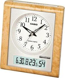 カシオ 電波時計 置時計 デジタル アナログ 目覚まし時計 おしゃれな 白木目調デザイン (CL11OC03) 見やすい アラビア数字 日付 曜日 カレンダー アラーム スヌーズ 温度 湿度計 秒針 音がしない 秒針停止機能 LED ライト付き CASIO 静かな 卓上 電波 置き時計