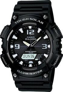 カシオ スポーツウォッチ 10気圧防水 ソーラー メンズ デジタル アナログ 腕時計 ストップウォッチ カウントダウンタイマー (AS12MAP-101BLK) ワールドタイム アラーム カレンダー LED ライト付き