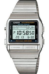 カシオ データバンク スポーツウォッチ メンズ デジタル 腕時計 シルバー 銀(DB-380-1)1/100秒 ストップウォッチ テレメモ機能 LEDライト付き ランニングウォッチ カシオ CASIO 海外限定 マラソン ランニング 時計 ランナー ウォッチ