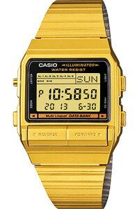 カシオ データバンク スポーツウォッチ メンズ デジタル 腕時計 ゴールド 金(DB-380G-1)1/100秒 ストップウォッチ テレメモ機能 LEDライト付き ランニングウォッチ カシオ CASIO 海外限定 マラソン ランニング 時計 ランナー ウォッチ