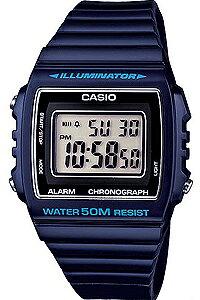 カシオ スポーツウォッチ 5気圧防水 デジタル 腕時計 おしゃれな ブルー 青 (W13MYP-102BLU) 1/100秒 ストップウォッチ 日付 曜日 カレンダー アラーム LEDライト付き ランニングウォッチ カシオ CASI