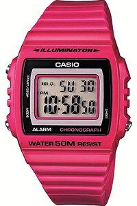 カシオ スポーツウォッチ 5気圧防水 メンズ デジタル 腕時計 おしゃれな ピンク (W13MYP-103PNK) アラーム カレンダー ストップウォッチ LED ライト付き ランニングウォッチ CASIO 海外限定 ランナ