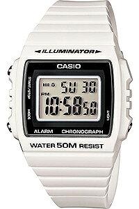 カシオ スポーツウォッチ 5気圧防水 メンズ デジタル 腕時計 ランニングウォッチ おしゃれな ホワイト 白 (W13MYP-105WHT) デジタル ストップウォッチ アラーム カレンダー LED ライト付き CASIO 海