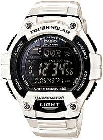 ランニングウォッチ カシオ スポーツウォッチ 10気圧防水 ソーラー メンズ デジタル 腕時計 おしゃれな ホワイト 白 (WSD13AUP-703WHT) 120ラップ ストップウォッチ カウントダウンタイマー LEDライト付き CASIO 海外限定 ランニングウオッチ マラソン ランニング 時計