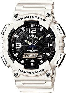 カシオ スポーツウォッチ 10気圧防水 ソーラー メンズ デジタル アナログ 腕時計 ストップウォッチ カウントダウンタイマー (AS13AUP-503WHT) ワールドタイム アラーム カレンダー LED ライト付き