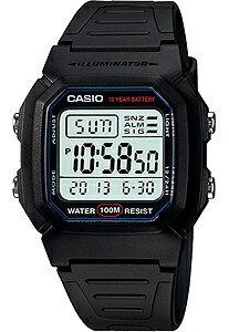 カシオ スポーツウォッチ 10気圧防水 デジタル 腕時計(W13P-3103BLK)1/100秒ストップウォッチ LEDライト付き 10年電池搭載 ランニングウォッチ カシオ CASIO 海外限定 マラソン ランニング ジョギング 時計 ランナー ウォッチ