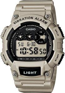 カシオ スポーツウォッチ 10気圧防水 メンズ デジタル 腕時計 (W13AUP-802GRY) バイブ 振動アラーム ストップウォッチ カウントダウンタイマー LEDライト付き ランニングウォッチ CASIO 海外限定 マ