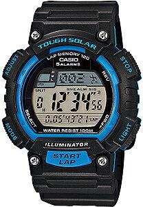 カシオ スポーツウォッチ 10気圧防水 ソーラー メンズ デジタル 腕時計 120ラップ ストップウォッチ カウントダウンタイマー (S14FBP-302BLU海外版) ワールドタイム アラーム カレンダー LED ライ