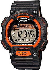 カシオ スポーツウォッチ 10気圧防水 ソーラー デジタル 腕時計(S14FBP-303ORG海外版)ストップウォッチ カウントダウンタイマー 120ラップ LEDライト付き ランニングウォッチ CASIO マラソン ランニング 時計 ランナー ウォッチ