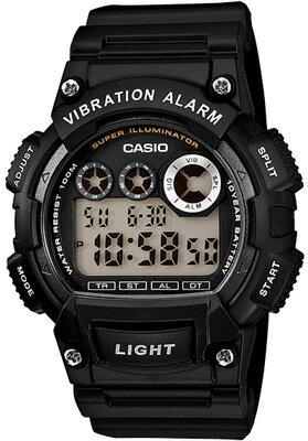 カシオ スポーツウォッチ 10気圧防水 デジタル 腕時計(W13FBP-401BLK)バイブ 振動アラーム 1/100秒ストップウォッチ 10年電池 LEDライト搭載 ランニングウォッチ カシオ CASIO 海外限定 マラソン ランニング 時計 デジタルウォッチ