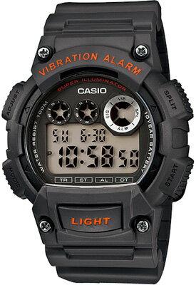 カシオ スポーツウォッチ ランニングウォッチ 10気圧防水 デジタル 腕時計 W13FBP-403BLK2 バイブ 振動アラーム 1/100秒ストップウォッチ 10年電池 LEDライト搭載 CASIO 海外限定 マラソン ランニング 時計 デジタルウォッチ