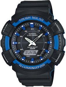 カシオ スポーツウォッチ 20気圧防水 ソーラー メンズ デジタル アナログ 腕時計 ダイバーズ ブルー 青 (SD17OC01BKBU) ストップウォッチ カウントダウンタイマー LED ライト付き ソーラー ランニ