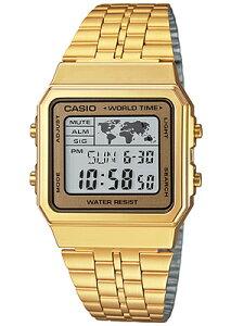 カシオ スポーツウォッチ 日常生活防水 メンズ デジタル 腕時計 ゴールド 金 (WA14DEP-104GLD) ストップウォッチ カウントダウンタイマー ワールドタイム LED ライト付き ランニングウォッチ カシ