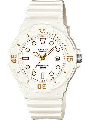 カシオ スポーツウォッチ 10気圧防水 レディース アナログ かわいい 腕時計 ダイバーズ ホワイト 白(LR12FBP-605WHBR)回転ベゼル 日付 カレンダー ランニングウォッチ CASIO 海外限定 ダイバー マラソン ランニング 時計 ダイバーズウォッチ