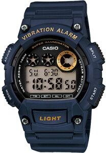 カシオ スポーツウォッチ 10気圧防水 メンズ デジタル 腕時計 おしゃれな ブルー 青 (W13FBP-402BLU) バイブ 振動アラーム ストップウォッチ カウントダウンタイマー LEDライト付き ランニングウ