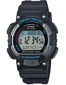 カシオ スポーツウォッチ 10気圧防水 ソーラー デジタル レディース 腕時計 (SD15JLP-201BKBU) ストップウォッチ カウントダウンタイマー 120ラップ LEDライト付き ランニングウォッチ カシオ CASIO