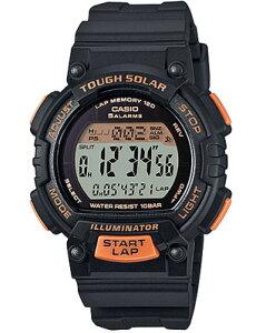 カシオ スポーツウォッチ 10気圧防水 ソーラー デジタル レディース 腕時計 (SD15JLP-202BKOR) ストップウォッチ カウントダウンタイマー 120ラップ LEDライト付き ランニングウォッチ カシオ CASIO