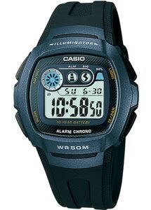 カシオ スポーツウォッチ 5気圧防水 メンズ デジタル 腕時計 ブルー 青 (W13P-3506BKBU) アラーム カレンダー ストップウォッチ 10年電池 LED ライト付き ランニングウォッチ CASIO 海外限定 マラソ