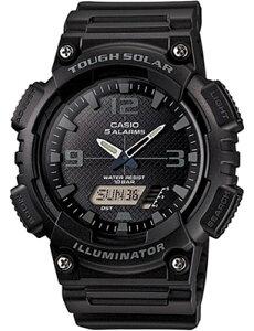 カシオ スポーツウォッチ 10気圧防水 ソーラー メンズ デジタル アナログ 腕時計 ストップウォッチ カウントダウンタイマー (AS13AUP-401BLK) アラーム カレンダー LED ライト付き ソーラー ランニ