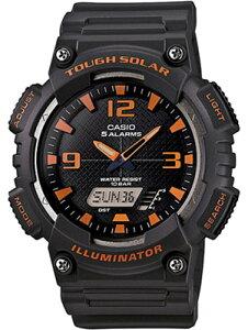 カシオ スポーツウォッチ 10気圧防水 ソーラー メンズ デジタル アナログ 腕時計 ストップウォッチ カウントダウンタイマー (AS13AUP-403ORBK) アラーム カレンダー LED ライト付き ソーラー ラン